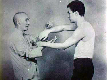 Ye Wen and Bruce Lee